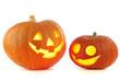 canvas print picture - Jack O Lantern halloween pumpkins