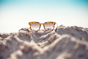 Glasses on a beach