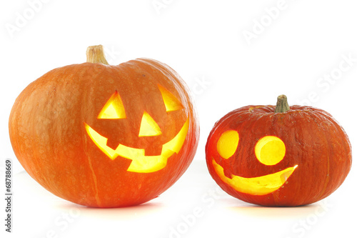 canvas print picture Jack O Lantern halloween pumpkins