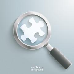 White Puzzle Piece Loupe