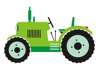 Tractor - green color