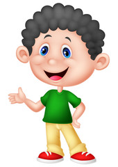 Cute little boy cartoon