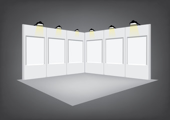 Blank panel exhibition stand