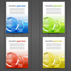 Collection of business flyer template, brochures, cover design