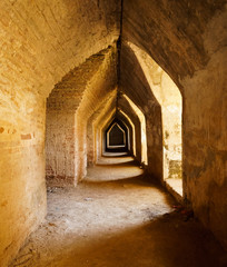 Old  tunnel in castle, Mandalay, Myanmar