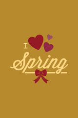 Vector illustration with love spring and