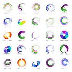 Rotation and spiral design elements.
