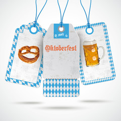 Oktoberfest Price Stickers Beer Pretzel PiAd