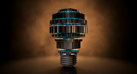 Cogwheel Lightbulb Shape Concept