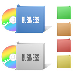 Business. Box with compact disc.