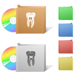 Tooth. Box with compact disc.
