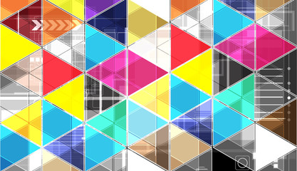 abstract bright triangle technology background
