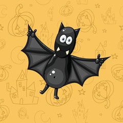 226 Black cartoon bat