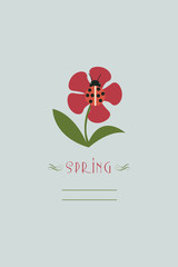 Vector illustration with flower and