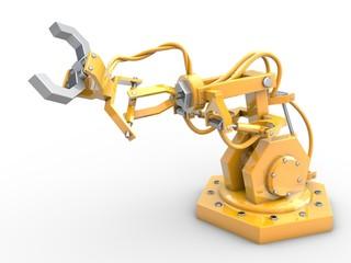 Roboter greift mit Greifarm nach etwas