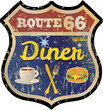 retro route 66 diner sign, vector eps 10 - 68793865