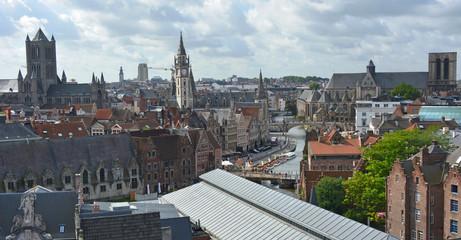 Vue aérienne de Gand