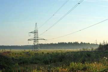 high-voltage transmission line