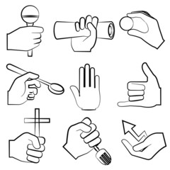 sketch hand sign