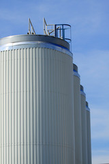 Storage tanks of a factory