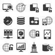 data management icons, big data icons