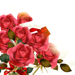 Beautiful background with luxury bouquet of  roses