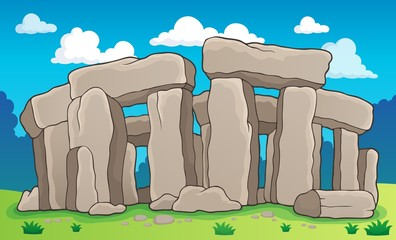 Ancient stone monument theme 2