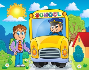 Image with school bus topic 4