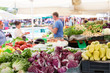 canvas print picture - Vegetable market stall.