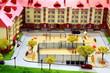 mock town house miniature people
