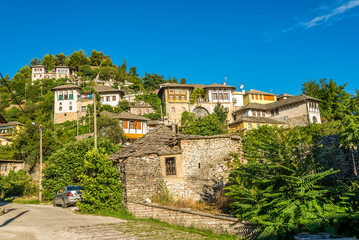 View at houses in Gjirokaster