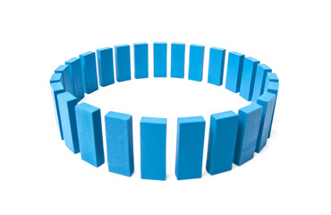 Circle out of blue building blocks