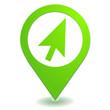 cliquez ici sur symbole localisation vert