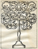 Tree of life cross (Medieval Europe) poster