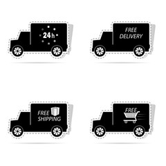 delivery truck sticker vector illustration