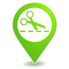 découper sur symbole localisation vert