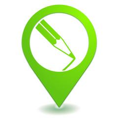 dessin sur symbole localisation vert