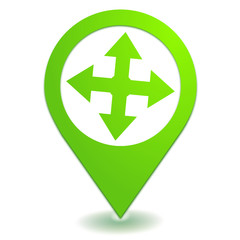 directions sur symbole localisation vert