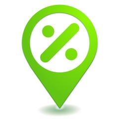 division sur symbole localisation vert