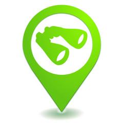 recherche jumelles sur symbole localisation vert