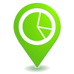 statistiques sur symbole localisation vert