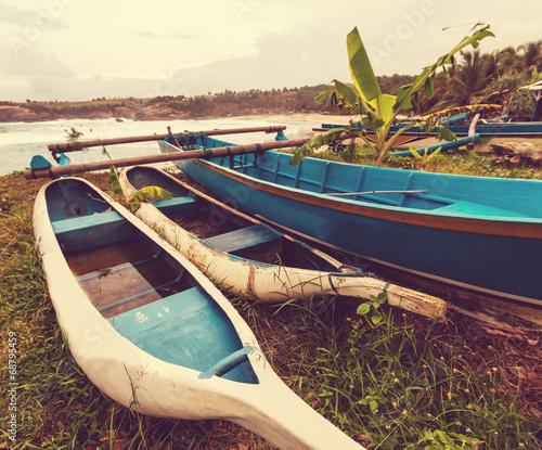 Foto op Plexiglas Indonesië Boat in Indonesia