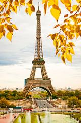 Paris, the beautiful Eiffel Tower.