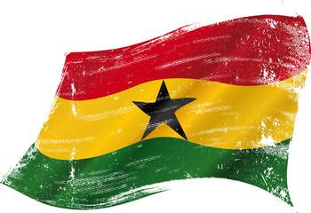 waving waving Ghanaian grunge flag grunge flag