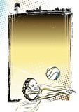 beach volleyball poster background