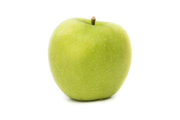 Green Apple fruit isolate on white background.