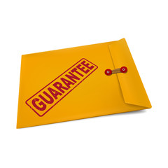 guarantee stamp on manila envelope