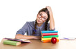 studing girl