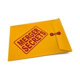 merger secrets on manila envelope poster
