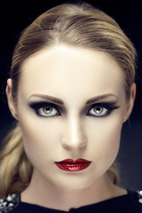 Beautiful woman portrait with perfekt Make Up
